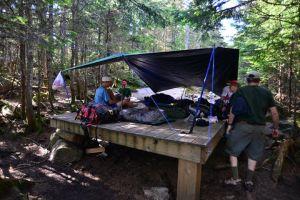 Kinsman Pond tent platform
