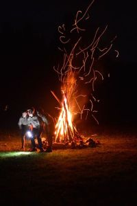 A campfire skit